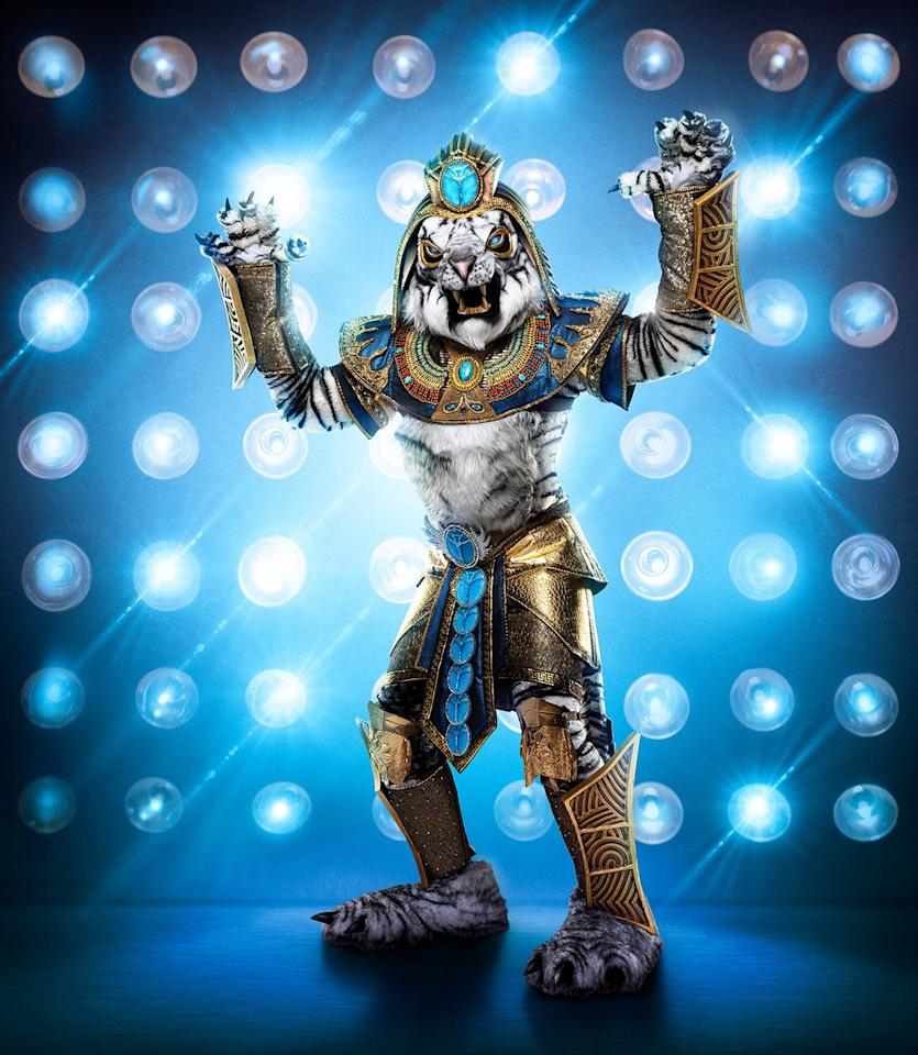 """He's just fun, outgoing, incredible, and loves his costume,"" Toybina told <a href=""https://ew.com/tv/the-masked-singer-season-3-new-costumes-revealed/?slide=6609615#6609615"" target=""_blank""><em>Entertainment Weekly</em></a> of celebrity behind the Egyptian-inspired costume. ""It is somebody that enjoys his performance and is definitely larger than life on stage."""