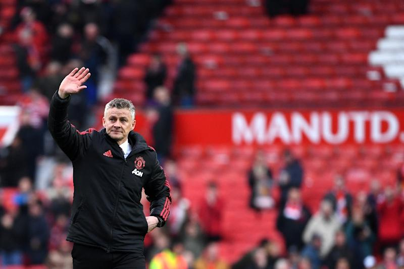 Hands up: Ole Gunnar Solskjaer admitted his side did not deserve to beat West Ham 2-1 on Saturday