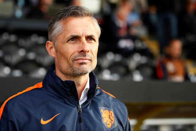 Soccer Football - UEFA European Under-17 Championship - Group D - Netherlands v Spain - Burton Albion FC Stadium, Burton-upon-Trent, Britain - May 8, 2018 Netherlands' coach Kees van Wonderen Action Images via Reuters/Jason Cairnduff