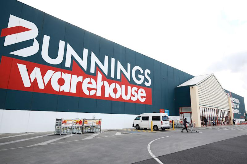 A Bunnings Warehouse carpark is pictured.