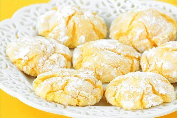 """<p>The famed lemon bars from Dewey's Bakery in Winston-Salem, NC have the ideal balance of tartness and sweetness, and these cookies are no different, though the recipe involved a totally genius shortcut.</p><p>Get the recipe from <a href=""""https://www.gimmesomeoven.com/easy-lemon-cookies/"""" rel=""""nofollow noopener"""" target=""""_blank"""" data-ylk=""""slk:Gimme Some Oven"""" class=""""link rapid-noclick-resp"""">Gimme Some Oven</a>.<br></p>"""