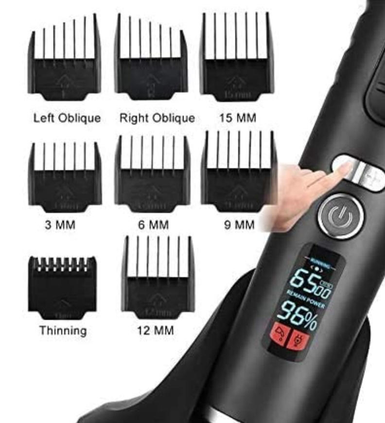 Ceenwes Rechargeable Hair Cutting Kit with Charging Dock and 8 Guide Combs