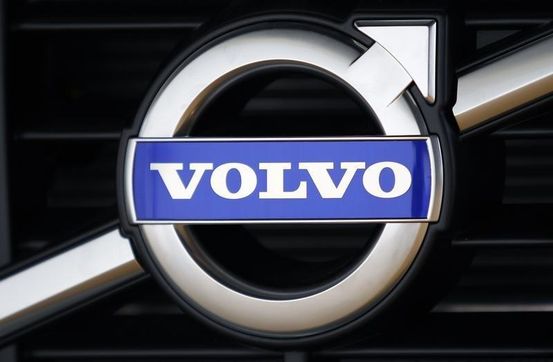 The Volvo logo is seen on a new XC60 model in a showroom near the Volvo Car Corporation Headquarters in Gothenburg May 20, 2010