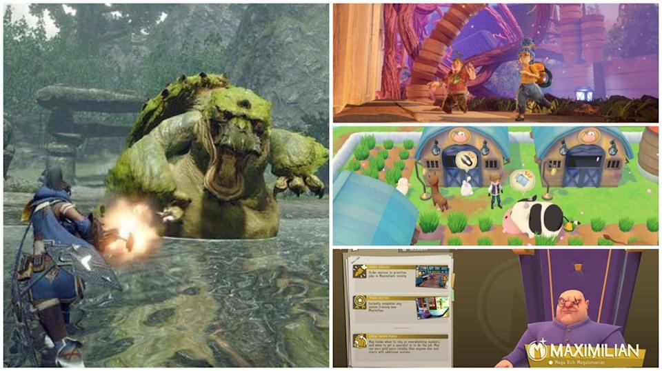 (Clockwise from left): Battle cool new creatures await you in