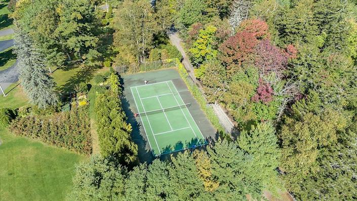 The tennis court. - Credit: Photo: Courtesy of Francois Gagne