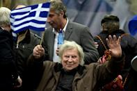 Theodorakis was adulated in his home country for his inspirational music (AFP/ANGELOS TZORTZINIS)