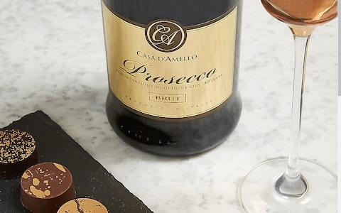 Marks and Spencer chocolate and Prosecco set