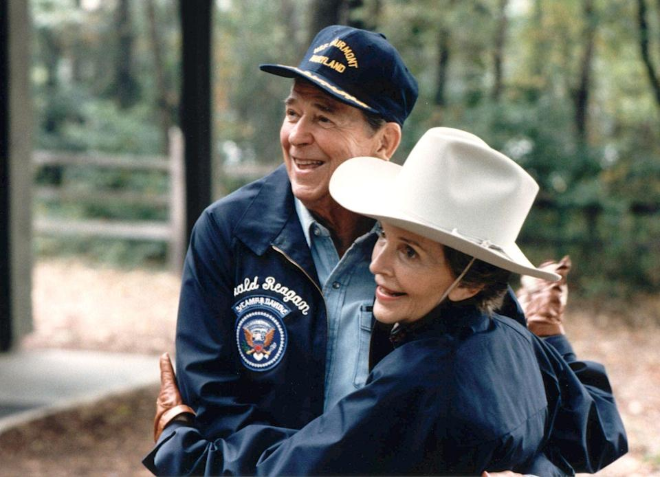 <p>The First Couple shared an impromptu dance outside at Camp David, the President's country residence. </p>