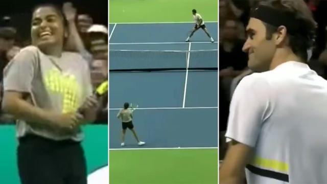 Brilliant moment. Image: Tennis Channel