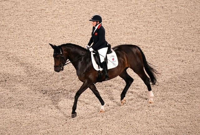 Great Britain's Natasha Baker was riding Keystone Dawn Chorus for the first time in a major event