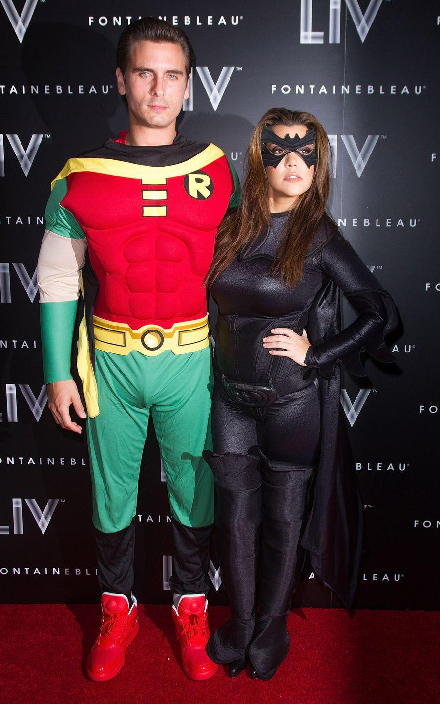 <p>The former couple were <em>super </em>into their costume in 2012. Interesting choice for Kourtney to be Batman. Guess we know who runs the show...</p>