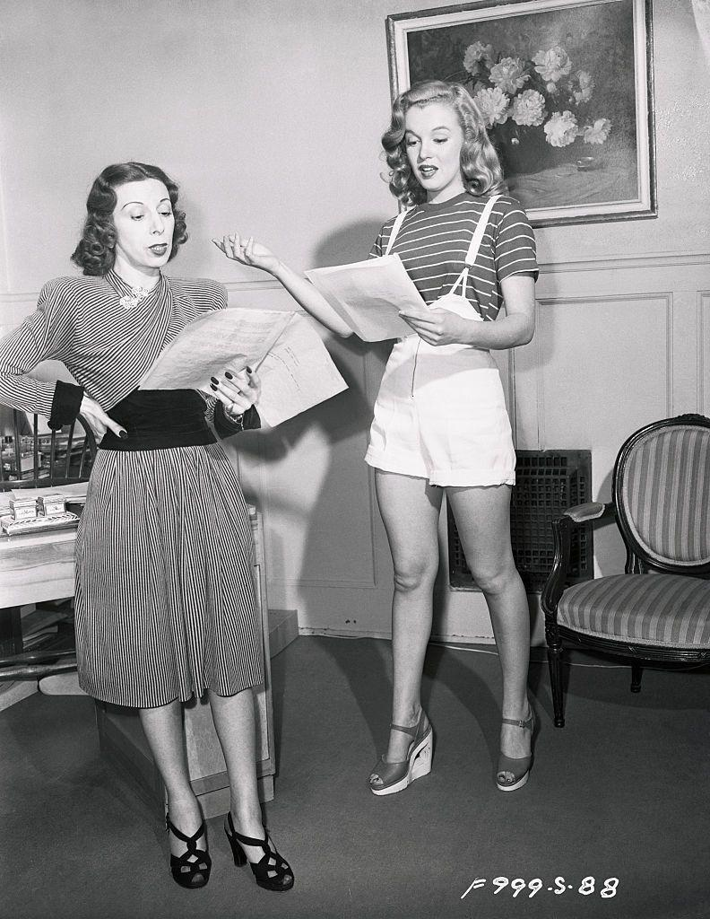 <p>Marilyn put in long hours learning her trade. </p>