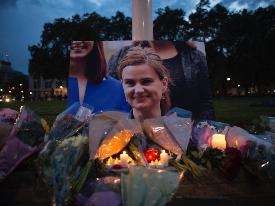 Jo Cox, Labour MP for Batley and Seen, was shot and stabbed at her constituency in Birstall, England, in 2016 (Dan Kitwood/Getty Images)