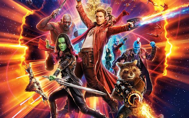 Detail from the <i>Guardians of the Galaxy Vol. 2</i> poster. (Disney)