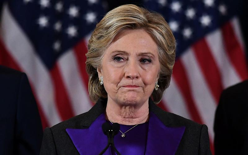 US Democratic presidential candidate Hillary Clinton makes a concession speech after being defeated by Republican president-elect Donald Trump in New York on November 9, 2016.  - AFP