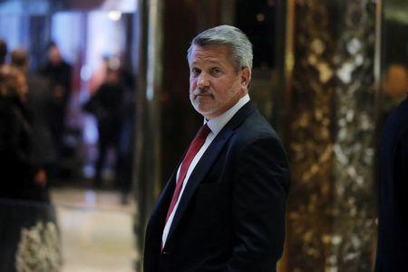 FILE PHOTO - Fox News President Bill Shine departs after meeting with U.S. President-elect Donald Trump at Trump Tower in the Manhattan borough of New York