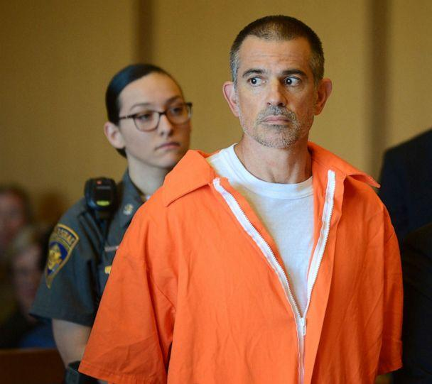 PHOTO: Fotis Dulos stands during a hearing at Stamford Superior Court in Stamford, Conn., June 11, 2019. (Erik Trautmann/Hearst Connecticut Media via AP, POOL, FILE)