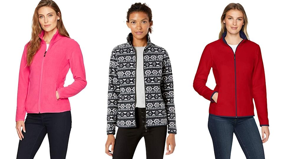 Amazon Essentials - Zip-Up Polar Fleece, $28. Available in 14 colours.