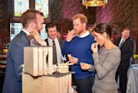 <p>The Duke and Duchess of Sussex sampled traditional Welsh cakes during a visit to Wales's Cardiff Castle. </p>