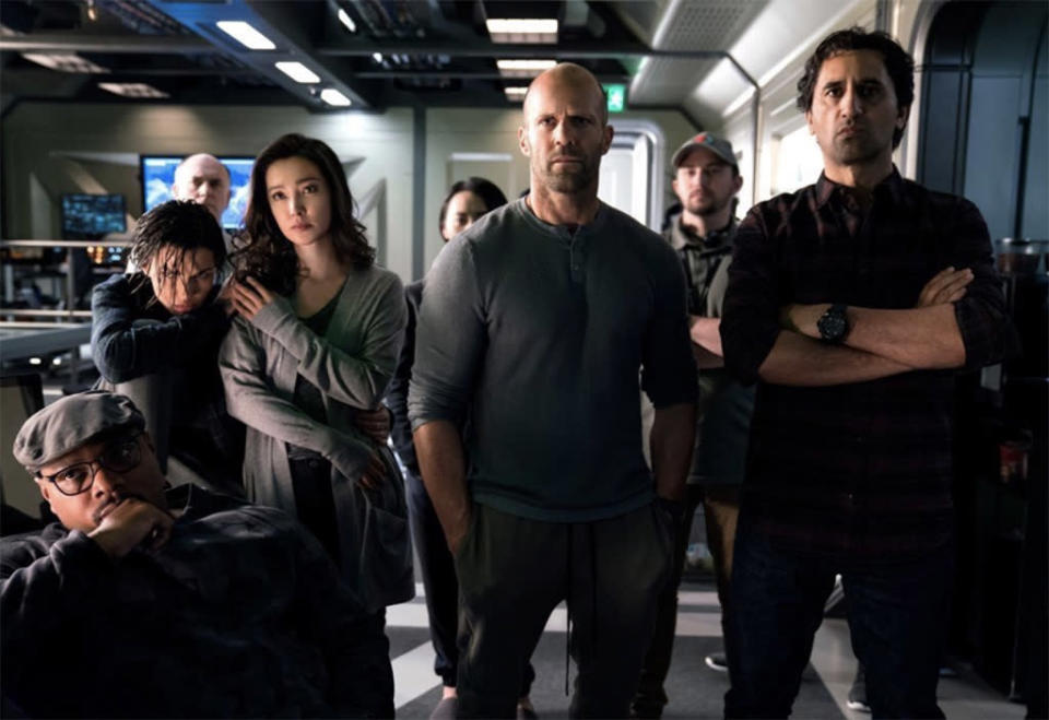 """<p>On paper it might sound a little hokey: Jason Statham and friends battle a Megalodon <span>— a </span>dino-size, (supposedly) extinct shark. But you really have to <a rel=""""nofollow noopener"""" href=""""https://www.go90.com/videos/5OCly8cOqdN"""" target=""""_blank"""" data-ylk=""""slk:watch the trailer"""" class=""""link rapid-noclick-resp"""">watch the trailer</a> for this summer actioner and tell us you're not excited by the potential of its glorious B-movie bombasticism. (WB) </p>"""