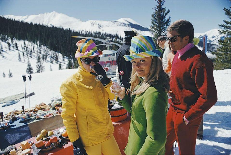 """<p>Drinking and <a href=""""https://www.townandcountrymag.com/leisure/sporting/g31023166/best-royal-family-skiing-photos/"""" rel=""""nofollow noopener"""" target=""""_blank"""" data-ylk=""""slk:ski culture"""" class=""""link rapid-noclick-resp"""">ski culture</a> goes as far back as combining <a href=""""https://www.townandcountrymag.com/leisure/sporting/g29403545/gifts-for-skiers/"""" rel=""""nofollow noopener"""" target=""""_blank"""" data-ylk=""""slk:the words après and ski"""" class=""""link rapid-noclick-resp"""">the words après and ski</a>. </p><p>Although COVID-19 safety guidelines and mandates have changed how people are enjoying the slopes this season, ski town breweries and distilleries across the country are adapting on the fly and making it possible to enjoy an 'adult beverage' or <a href=""""https://www.townandcountrymag.com/leisure/drinks/g3108/winter-cocktails/"""" rel=""""nofollow noopener"""" target=""""_blank"""" data-ylk=""""slk:cultured cocktail"""" class=""""link rapid-noclick-resp"""">cultured cocktail</a> alongside the downhill. From local brews, to barrel aged cocktails, ultra-distilled vodkas, limited production schnapps, and more visiting these spots to taste their wears makes for the perfect """"off-mountain"""" activity.</p><p>I am happy to report that many of our favorites are still alive and well. Next time you visit make sure to show your support (and be sure to call ahead of time to confirm opening hours & policies).</p>"""