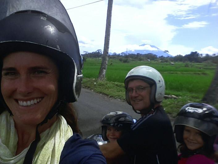 The Gilgan family in Bali, Indonesia. (Photo: Courtesy of Kate Gilgan)