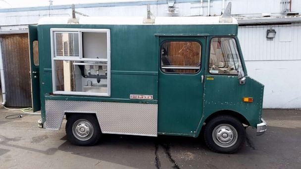 PHOTO: The original 'Buster' maintenance truck, prior to the Ford's renovating and retrofitting it into a dog food truck. (The Seattle Barkery)