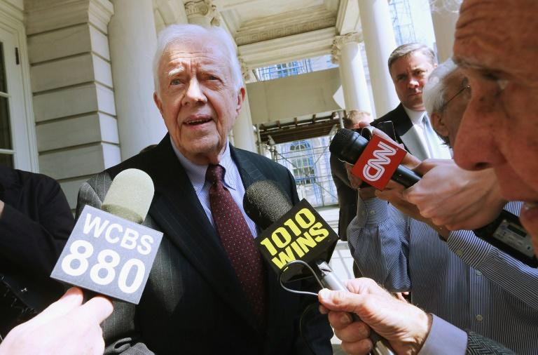 Former US president Jimmy Carter (pictured 2013) has sharply criticized his successor Donald Trump's Middle East plan