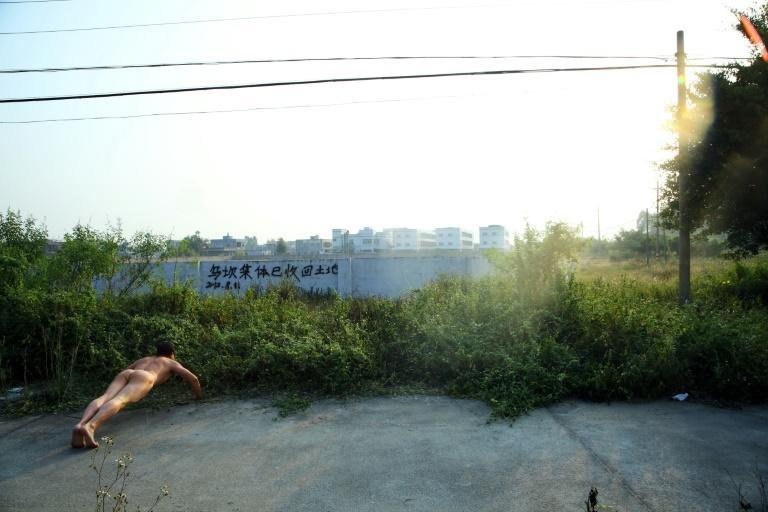 TV producer-turned artist Ou Zhihang draws attention to the anti-government protests at Wukan in Guangdong province