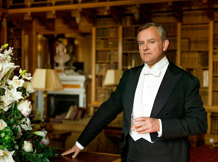 Aristocrat: Hugh Bonneville is seen portraying Lord Grantham, Robert Crawley (PA)