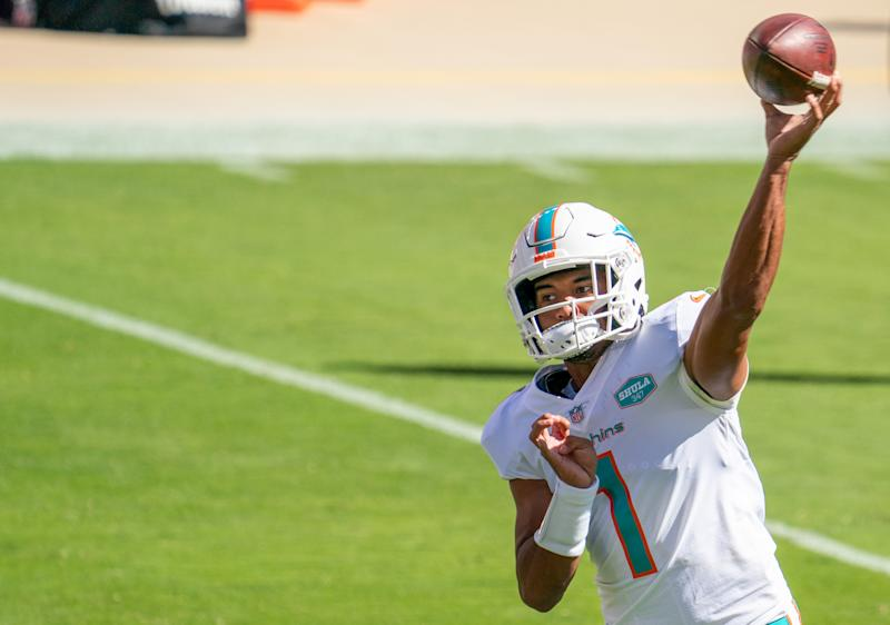 Watch: Tua Tagovailoa makes NFL debut for Miami Dolphins
