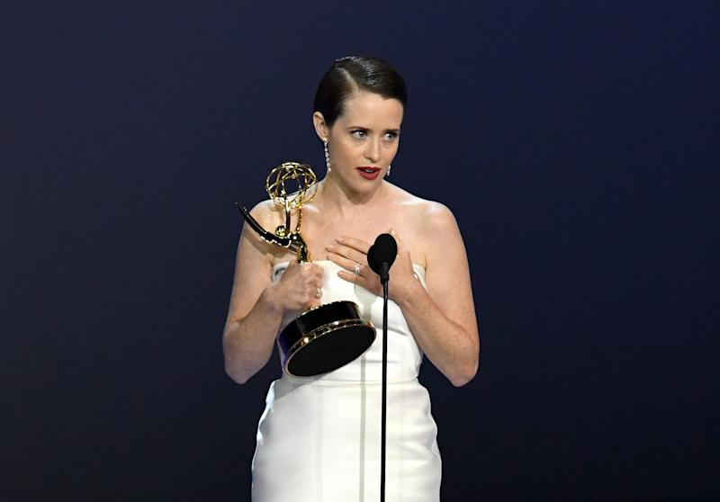 Claire Foy at the Emmy Awards. (Kevin Winter/Getty Images)