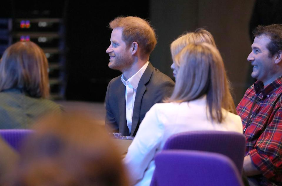 The Duke of Sussex during a sustainable tourism summit at the Edinburgh International Conference Centre in Edinburgh. (Photo by Andrew Milligan/PA Images via Getty Images)