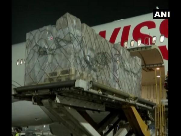 A shipment from Switzerland arrived at Delhi Airport. (Photo/ANI)