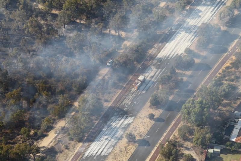 DFES has issued a watch and act warning for the southern part of Coolbellup in the City of Cockburn. Picture: Simon Hydzik/Seven News