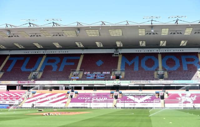 Burnley responded to Monday's events with banners of their own (Peter Powell/NMC Powell)