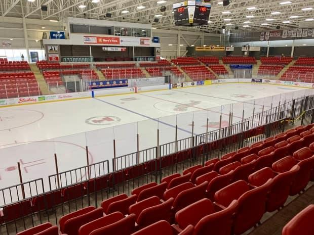 The Rath Eastlink Community Centre is one of the two arenas in Nova Scotia where the International Ice Hockey Federation's women's world championship was set take place next month. (Paul Palmeter/CBC - image credit)