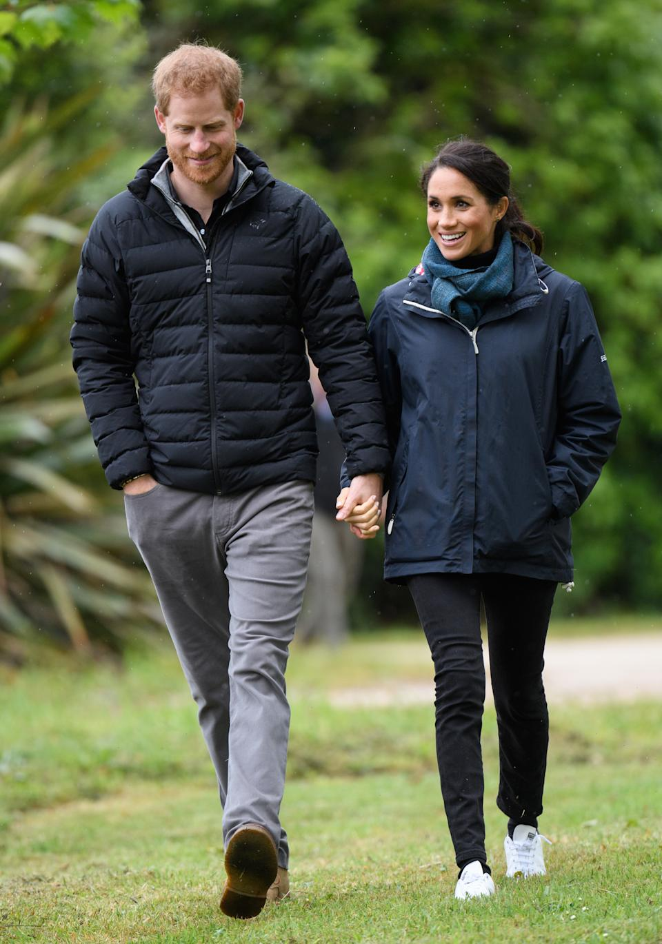 The Duchess of Sussex wore the vegan pair created Stella McCartney for the brand during the royal tour of New Zealand in 2018 (Getty Images)