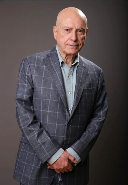 """In this Monday, March 11, 2013 photo, Alan Arkin poses for a portrait for the film """"The Incredible Burt Wonderstone"""" at the Hotel Amarano in Los Angeles. Arkin is Steve Carell's idol, in reality and in their new movie. The 78-year-old Oscar winner plays the master magician who helps Carell's character find his life's calling in """"The Incredible Burt Wonderstone."""" (Photo by Eric Charbonneau/Invision/AP)"""