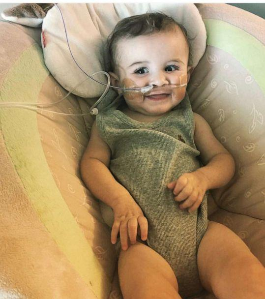 PHOTO: At 11 months old, Nash was diagnosed with spinal muscular atrophy with respiratory distress (SMARD), which causes muscle weakness and difficulty breathing. The condition is the result of an inherited gene mutation. (Brittany Stineman)