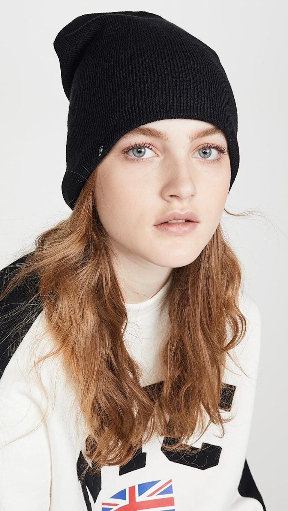 <p>Customers are obsessed with this warm <span>Plush Barca Slouchy Fleece Lined Hat</span> ($48).</p>