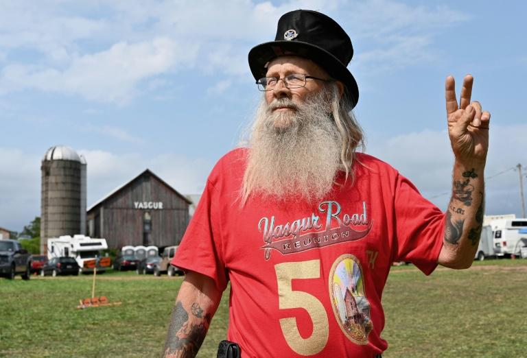 Max Yasgur is the farmer who offered his sprawling farmland for the 1969 Woodstock festival, and whose barn is shown here (AFP Photo/Angela Weiss)