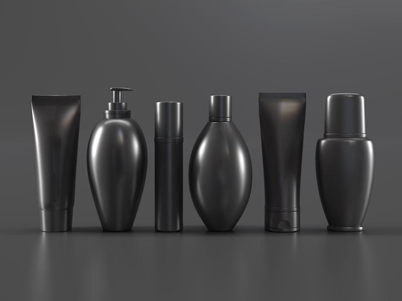 Cosmetic products black template