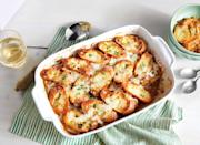 """<p><strong>Recipe: <a href=""""https://www.southernliving.com/recipes/french-onion-soup-casserole-recipe"""" rel=""""nofollow noopener"""" target=""""_blank"""" data-ylk=""""slk:French Onion Soup Casserole"""" class=""""link rapid-noclick-resp"""">French Onion Soup Casserole</a></strong></p> <p>Is there anything more comforting during the chilly winter months than a bowl of hot soup? Yep—that same bowl of hot soup in big-batch casserole form.</p>"""