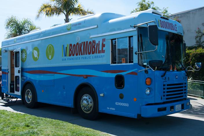 The SFPL bookmobile has been a steady presence through the event's 20 years.