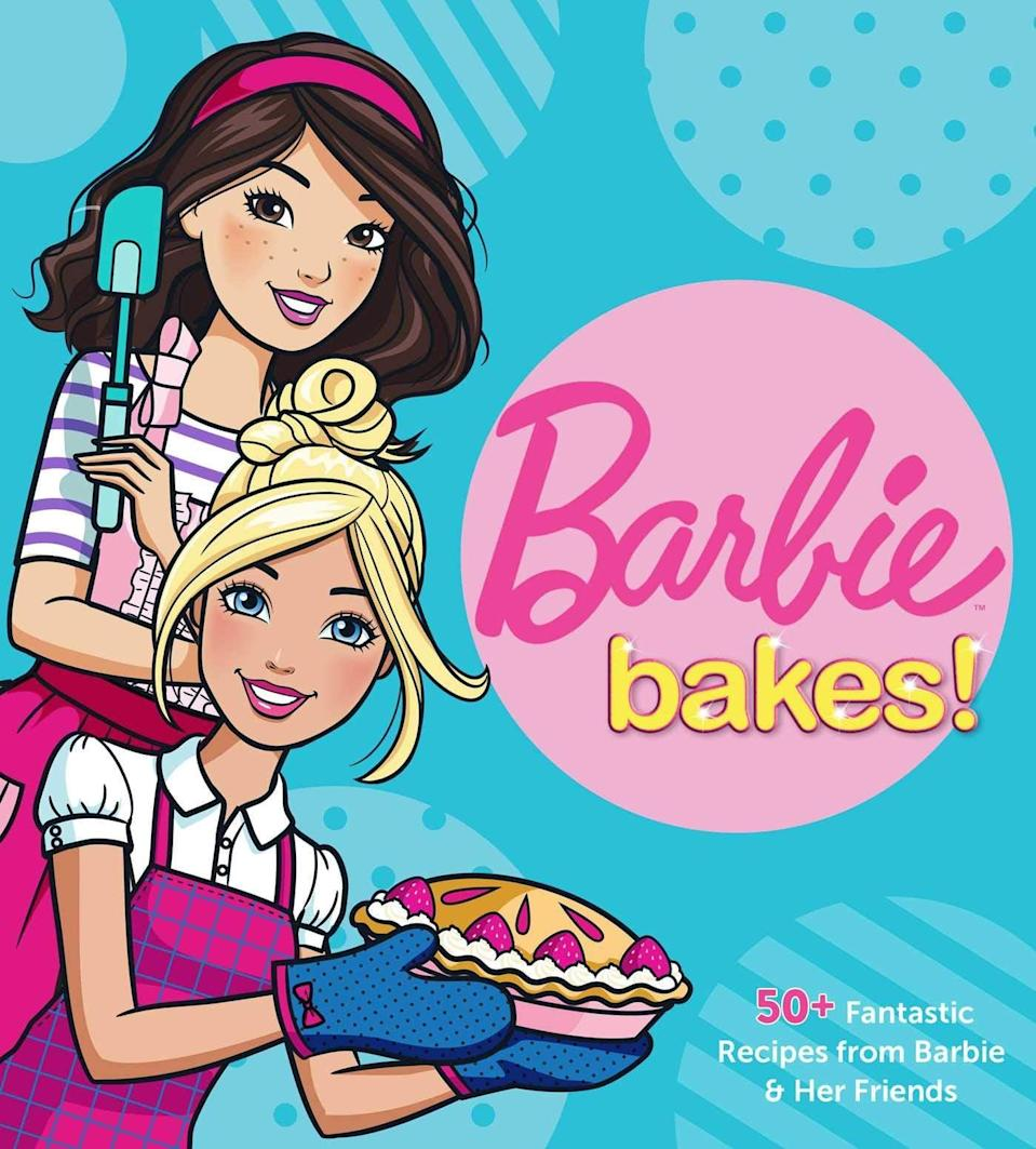 <p>Kids can learn to master classic recipes after cracking open their very own copy of <span><strong>Barbie Bakes</strong></span> ($18, originally $20), which is currently available for preorder.</p>