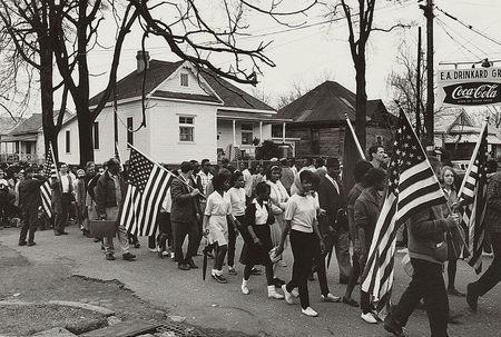 Participants marching in a civil rights march from Selma to Montgomery, Alabama, in this 1965 photograph courtesy of the Library of Congress. REUTERS/Library of Congress/Handout via Reuters