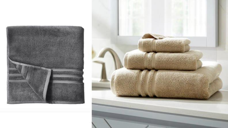Wrap yourself up in one of these plush towels when it's cold outside.