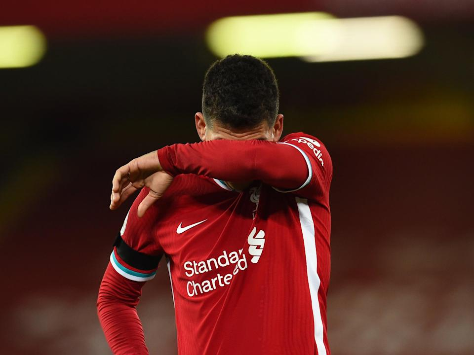 <p>Firmino reacts to Liverpool's defeat</p> (Liverpool FC via Getty Images)