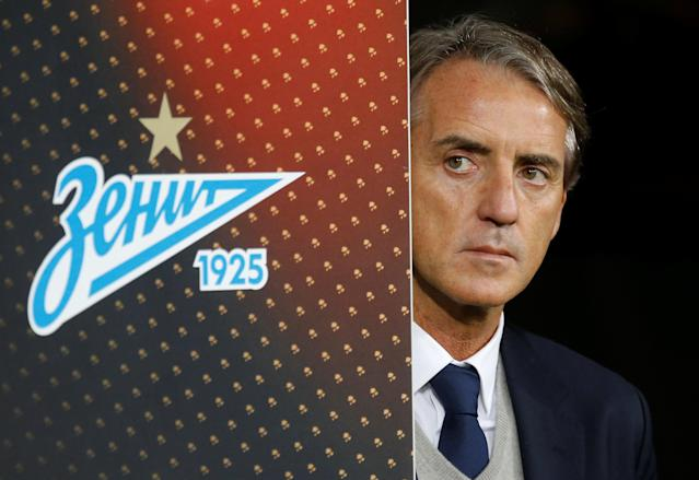 Soccer Football - Europa League Round of 32 Second Leg - Zenit Saint Petersburg vs Celtic - Stadium St. Petersburg, Saint Petersburg, Russia - February 22, 2018 Zenit St. Petersburg coach Roberto Mancini before the match REUTERS/Anton Vaganov